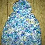 Очень теплая зимняя шапочка на девочку, объем 49-51, внутри флис