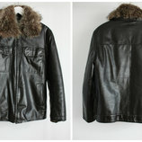 Кожаная зимняя курточка для мужчин , известной фирмы WEW OTL