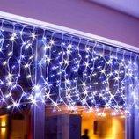 Гирлянда светодиодная уличная Бахрома 120 светодиодов 3м. на 50-70 см белая