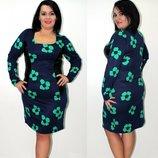 Платье трикотажное 54 размер