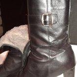 ROTHER Кожаные зимние сапоги на цегейке цигейке натуральная кожа каблук