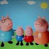 Набор Свинка Пеппа Pig Peppa и ее семья, 4 шт, новые