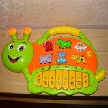 Детское пианино Улитка на батарейках, свет, звук.Детская игрушка.