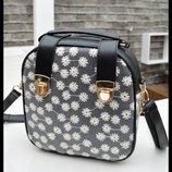 Модная сумка-рюкзак в снежинки В Наличии
