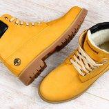 Ботинки Timberland зимние желтые и синие