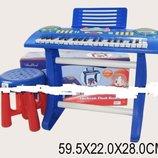 Пианино-синтезатор на ножках со стульчиком 3728
