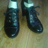 Женские туфельки ,ботинки темн.синий перламутр