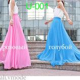 Шифоновая юбка в пол U-001 с пояском от natаli vmode