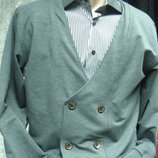 Кофта-пиджак на пуговицах Aldo Abate 2XL