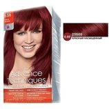 Стойкая крем-краска для волос «Салонный уход» Италия. Цвет 6.66 Intense Red/Красный насыщенный.