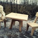 Набор деревянной мебели ручной работы