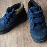 ботинки 26р кожа нат. замша