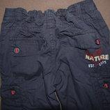 брюки двойные Kids by Lindex, синие, рост 122