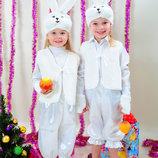 Прокат костюм зайчик, зайчиха сірий, білий заец заєць на 3-8 років - Позняки