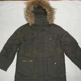 Очень теплая зимняя куртка пуховик 146 размер