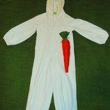 Новогодний костюм белого зайчика.