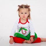 Новогодний костюм для новорожденного боди лосины 62 68 74 80