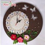 Интерьерные часы ВЕСНА Spring, дизайнерская работа