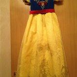 прокат сказочно красивое платье костюм Белоснежка 9-12 лет