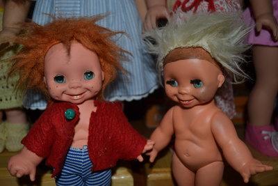 Коллекционная винтажная характерная гримаска кукла,пупс.редкая.зубки.гном Гдр,чудик германия