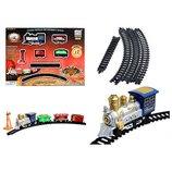 Железная дорога 13 элементов паровоз 3 вагона