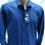 Рубашка мужская Antoni Rossi цвет синий в мелкий рисунок 4XL,5XL,6XL