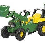 Педальный трактор rollyJunior John Deere Rolly Toys 811076