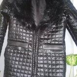 Пальто демисезонное под кожу