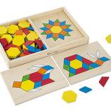 Детские развивающие игрушки, крупная мозаика из дерева