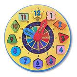 Детские развивающие игрушки, часы из дерева «сортировка»