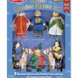 Деревянные куклы, фигурки из дерева для рыцарского замка