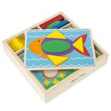Развивающие игрушки из дерева, деревянная мозаика для малышей 35 элементов