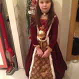 карнавальный костюм настоящего принца короля и платье королевы принцессы Мериды