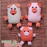 Игрушки ручной работы Сенсорные Свинки с пенопластовыми шариками внутри