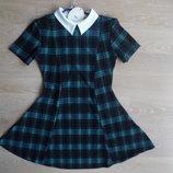 Платье сарафан женское клетка с воротником модное 12р 40 Cameo Rose с биркой новое