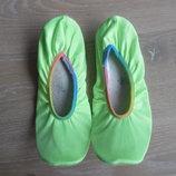 Балетки салатовые яркие обувь для танцев чешки 23,5 см