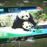 Шикарные пазлы с природой 1000 штук как новые с пандами