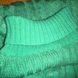 Зимний свитер с латками на локтях