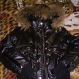 Куртка с натуральным мехом енота