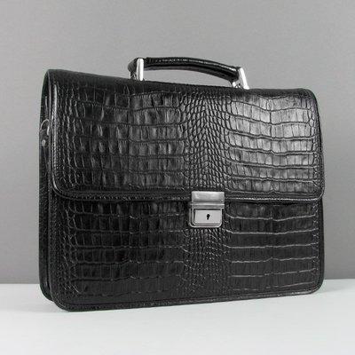 2d50c8b0e3df Портфель кожаный мужской классический каркасный черный Desisan 320 ...