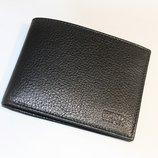 Кошелек мужской кожаный черный карты, купюры Bond Non 518-281 Турция