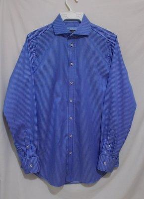 Новая рубашка дизайнерская в синюю полоску PAUL COSTELLOE 44-46р