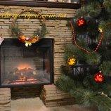 Ароматный рождественский, новогодний венок. Украшение двери или камина