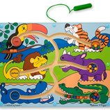 Развивающие игрушки из дерева, магнитный лабиринт из дерева «Животные»