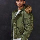 Мужская зимняя куртка N-2B PARKA Alpha industries Альфа индастриз Парка