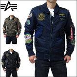 Мужская куртка ветровка пилот CWU PILOT X Alpha Industries альфа Индастриз