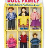 Игрушки из дерева, набор кукол из дерева «Семья»
