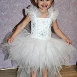 Новогоднее платье снежинки на 2,5-3,5 года.Прокат Киев