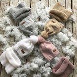 Детский набор шапка снуд-шарф