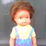 Кукла пупс мальчик-рыболов ГДР в родном 26 см